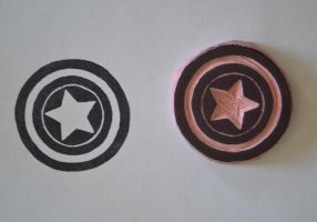 Captain America Shield Stamp by Littel-Gerll
