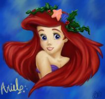 Ariel Coloring Book Painting by LindyArt