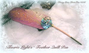 Faery Lights Feather Quill Pen by ChaeyAhne