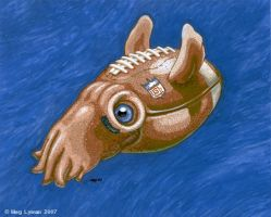 Football Squid by MegLyman