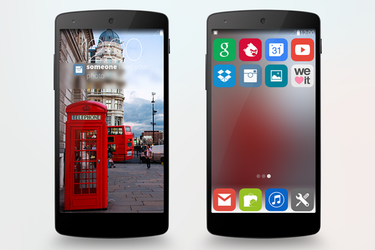 IOS7 and Android 4.4 Mixture by filipbaotic
