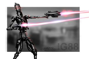 IG-88 Assassin Droid (Daily Sketch Challenge) by jameslink