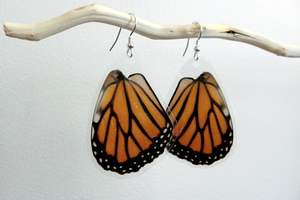 Monarch Earrings (Danaus plexippus) by TheButterflyBabe