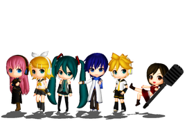 Normal Vocaloids by mmdyesbutterfly