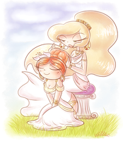 Mother and Daughter by PrincessCallyie