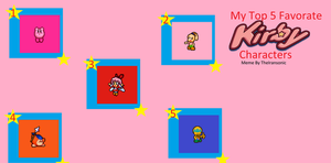 My Top 5 Favorate Kirby Characters by gold-ring-951