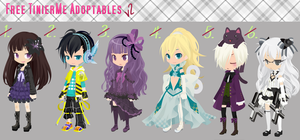 Free TinierMe Adoptables v2 -CLOSE- by Asunaw