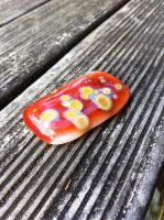 Fused Glass Pendant by CubicalPerspective