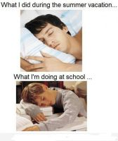 The difference of summer and school by lorendiva