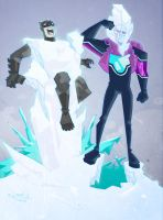 mr.freeze and the bat by mytymark