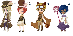 SteamPunk Themed Free Adopts [CLOSED] by Vladimir-Valentine