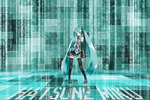 Miku Hatsune Wallpaper 2 by alliaxandromeda