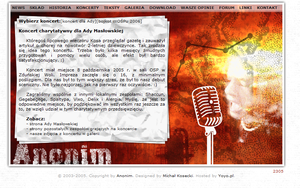 Anonim Band Website: concerts by michalkosecki