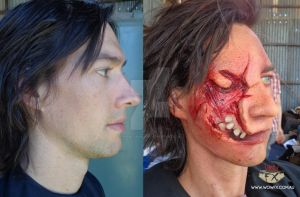 Infected human prosthetic makeup by WowFXMakeup