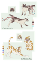 Commission: Cat Designs by Ricchin