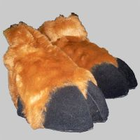 Plush style cloven deer hooves by Mystic-Creatures