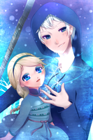 Jack and Elsa by DarkBamboo
