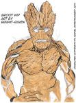 Groot - WIP: 1.5 hours in by Bright-Raven