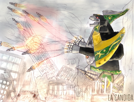 Attack of the Dragonzord! by LaCandida