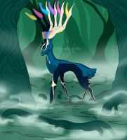 Legendary Pokemon Xerneas by ArtificiallyAwake