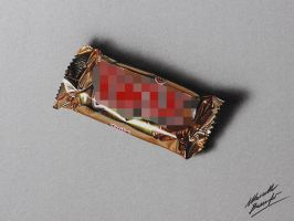 A twix bar - drawing by marcellobarenghi