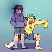 ichi and jyushi by remy-png