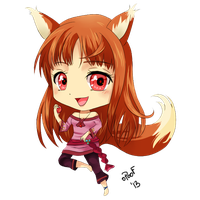 Chibi: Spice and Wolf by oPoof