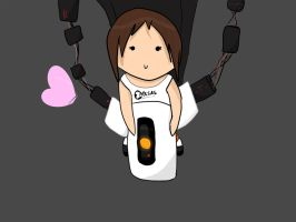 GLaDOS back ride by InvaderKeo