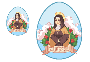 St. Therese Of The Little Flower by Lt-Frogg