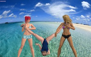 Candy and Dixie Submission to the beach by DreamCandice