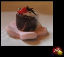 Strawberry Topped Mousse Cake by x-DorkSide-x