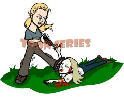 Andrea e Amy - The Walking Dead by toonseries