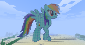 My Minecraft Rainbow Dash by Fifth--Element