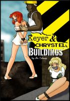 Keyer and CHRYSTEL Buildings Comic cover by DamselComics