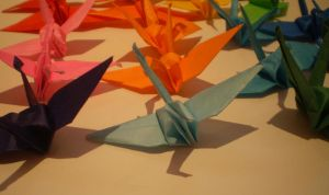 even more paper cranes by Liviy22