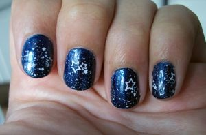 Starry Sky Nail Art by Talty