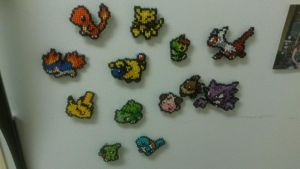 Pokemon Cross-Stitch Magnets by Arikawa