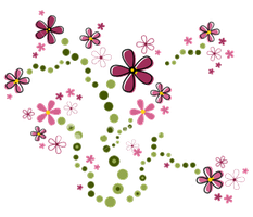 Cute Pink Flowers PNG by HanaBell1