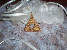 Wire Triforce Pendant by Sarinilli