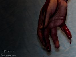 Bloody hand by Bastos17