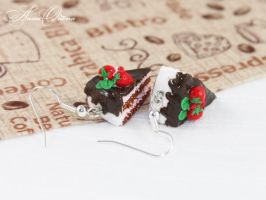 Chocolate cake by OrionaJewelry