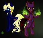 Commission: Nightshade and Nebulous by Fanthrose