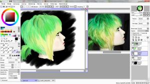 Pretty Hair Painting UNFINISHED by TsukiMelo