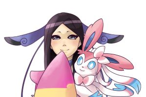 Valerie and Sylveon by kiruki-chan