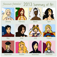 My 2013 Summary of Art by Femmes-Fatales