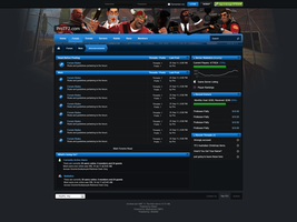 Clean Gaming Forum Design by michaeltinnin