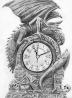 Dragon Clock by LittleFoxStudio