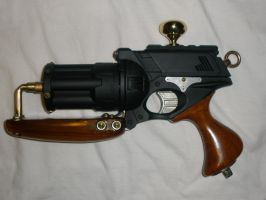 Steam Punk NERF Gun 'Tsarist Fury' Wood Grip by MarcWF