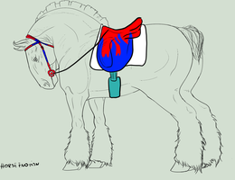 (2) Tack design commish for Beaumanblue-Commander by Horse-Emotion