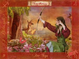 Sagittarius Of The Zodiac by zoozee